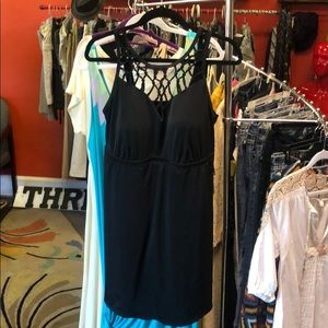 Swimsuits for All Black Halter Swim Dress Sz. 18